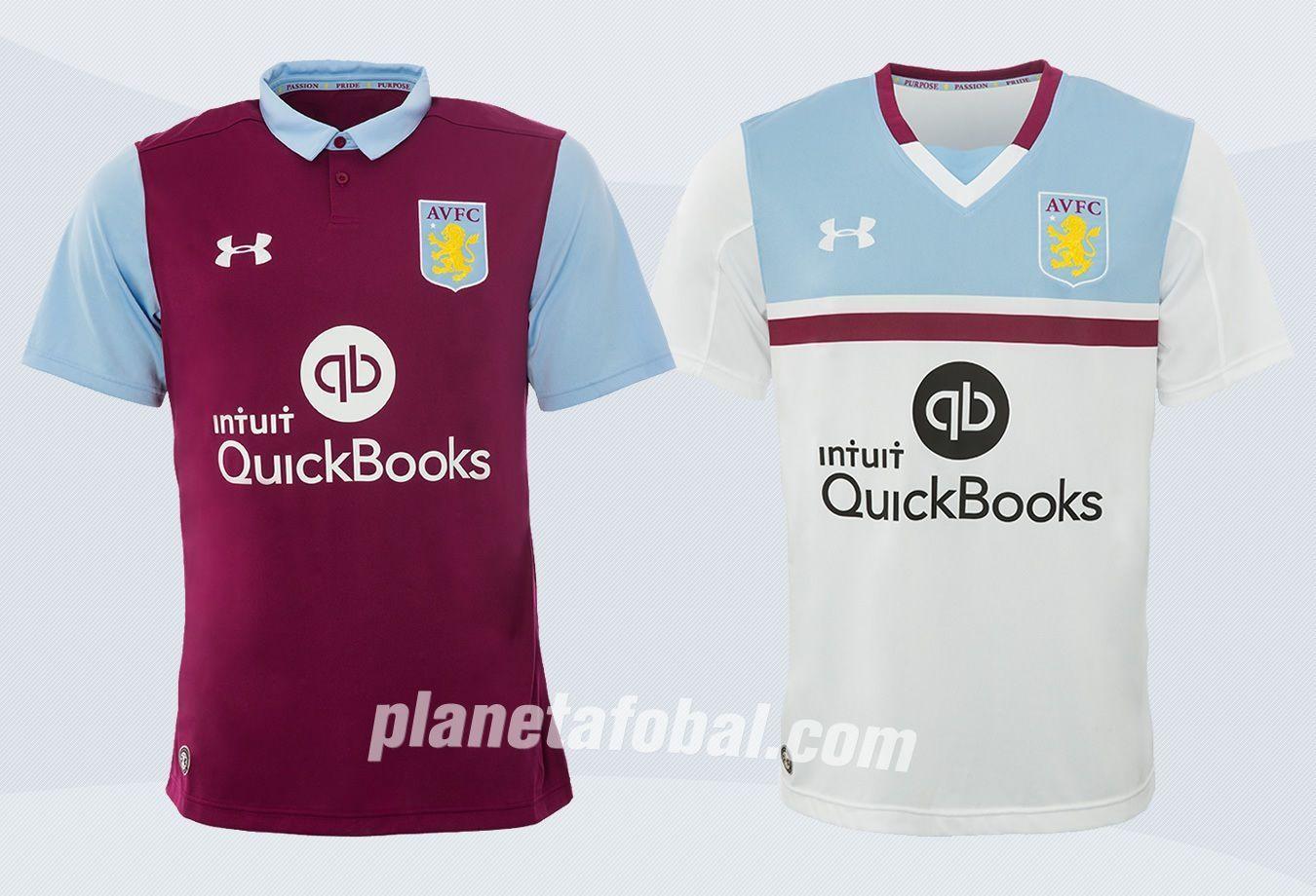 Nuevas casacas del Aston Villa | Imágenes Web Oficial