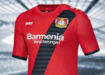 Camiseta suplente Jako del Bayer Leverkusen para 2016/2017 | Foto Tienda Oficial