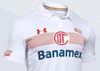 Camiseta suplente del Toluca de México para 2016/2017 | Imágenes Under Armour