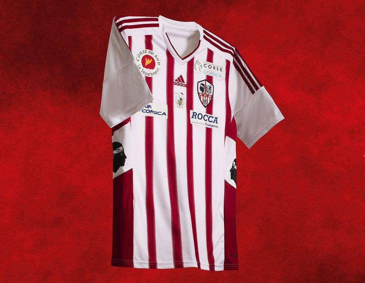 Camiseta titular Adidas del AC Ajaccio para 2016/2017 | Foto Twitter Oficial @ACAjaccio
