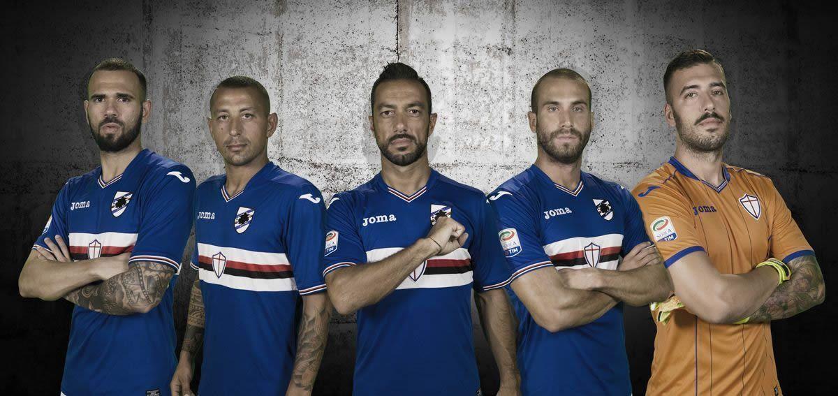 Camiseta titular Joma de la Sampdoria | Foto web oficial