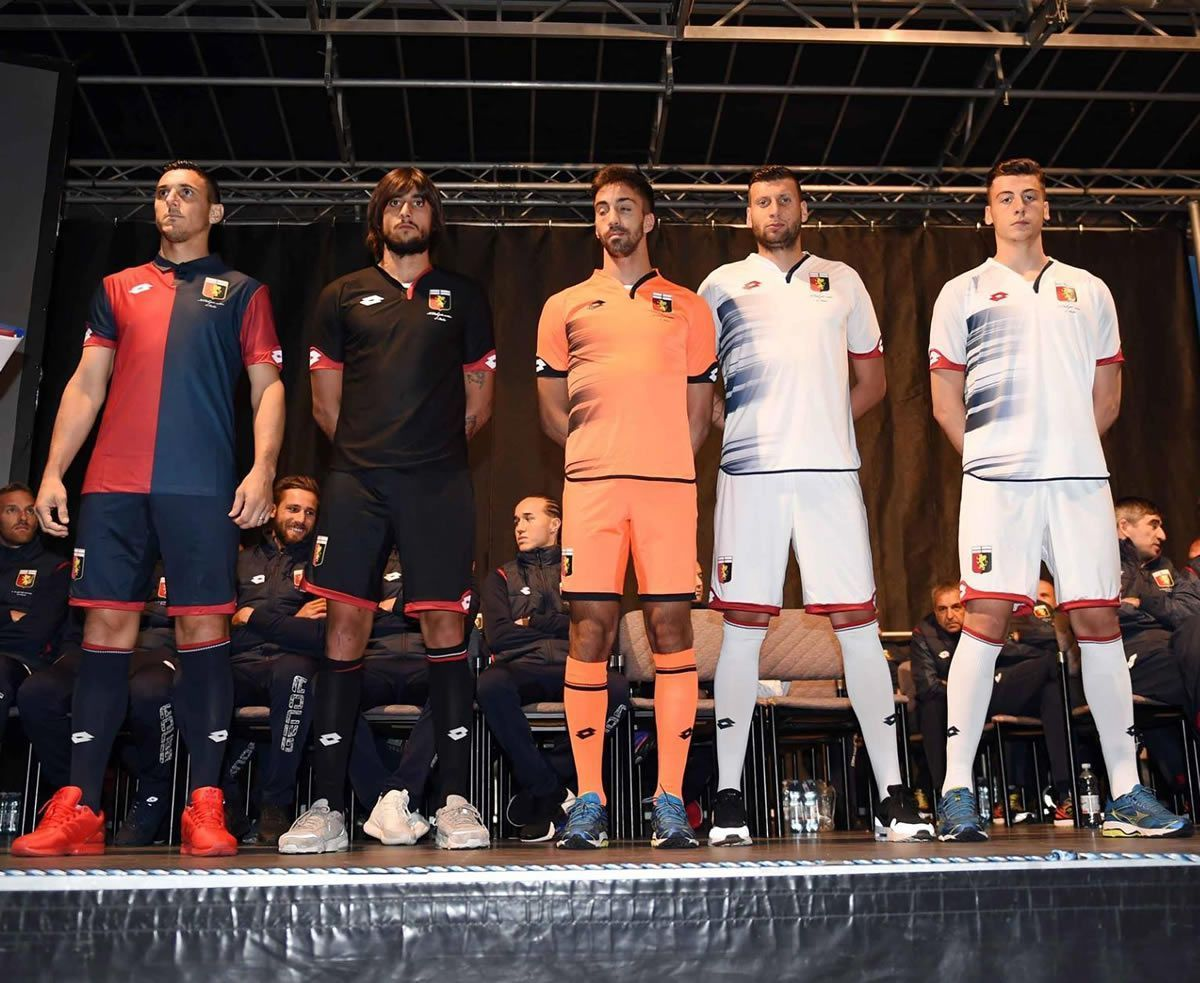 Camiseta titular y de arquero del Genoa CFC para 2016/2017 | Foto Twitter oficial