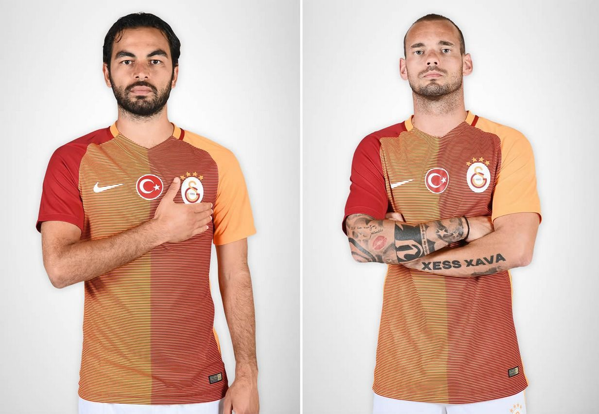 Nueva camiseta titular del Galatasaray para 2016/2017 | Imágenes Tienda Oficial