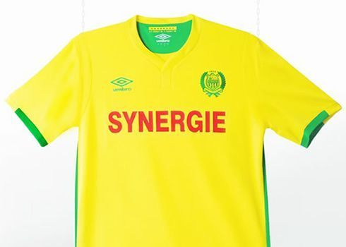 Camiseta titular Umbro del FC Nantes de Francia para 2016/2017 | Foto web oficial