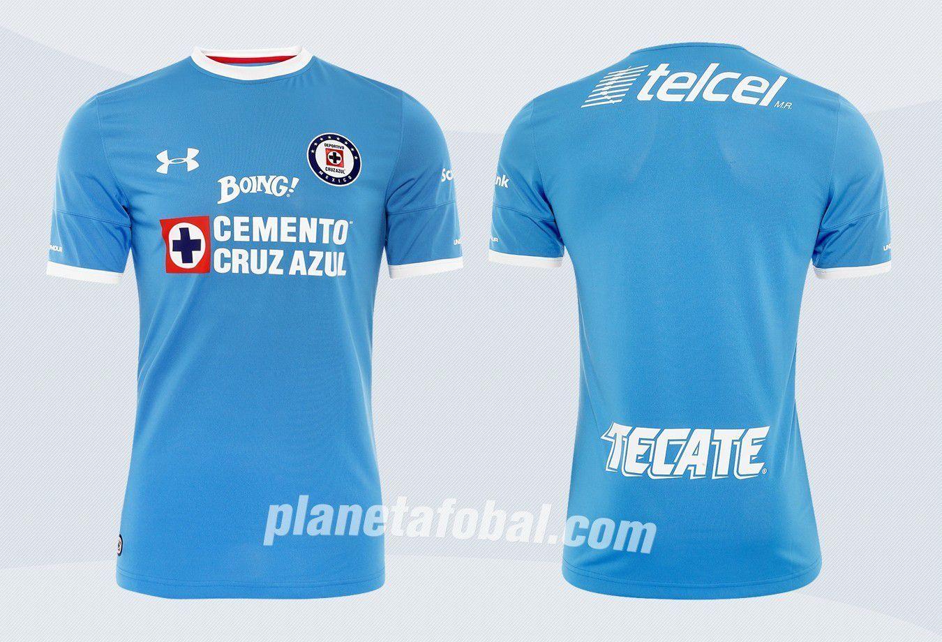 Camiseta titular Under Armour del Cruz Azul para 2016/2017 | Imágenes Tienda Oficial