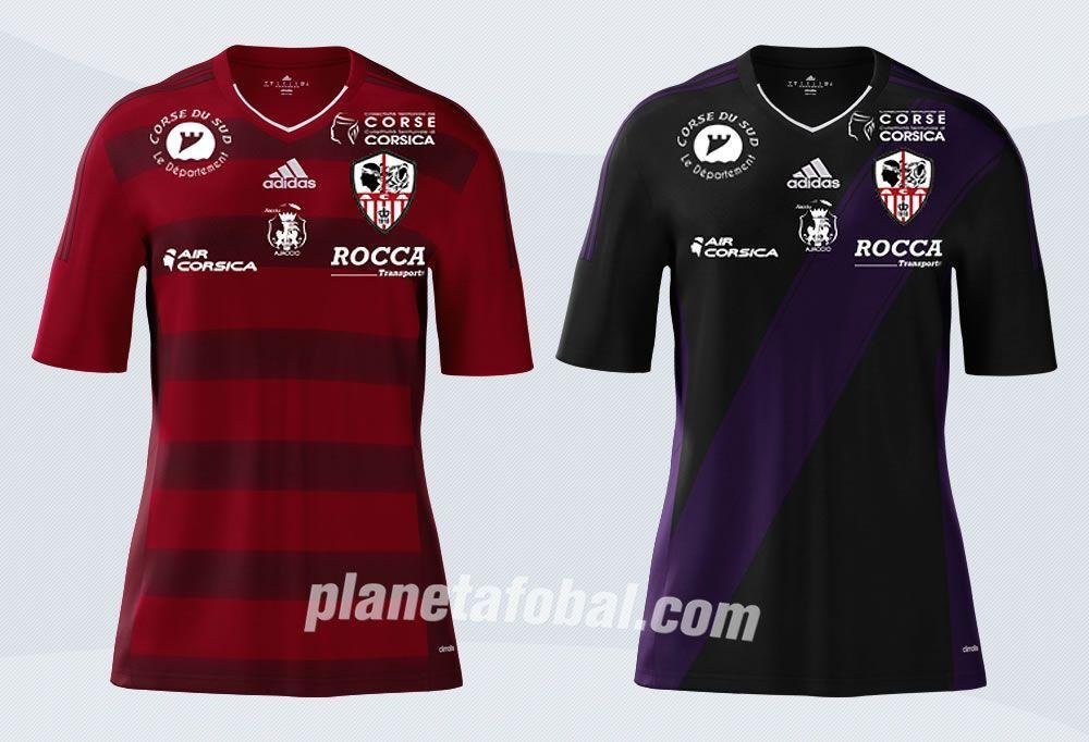 Camisetas alternativas del AC Ajaccio para 2016/2017 | Imágenes Tienda Oficial