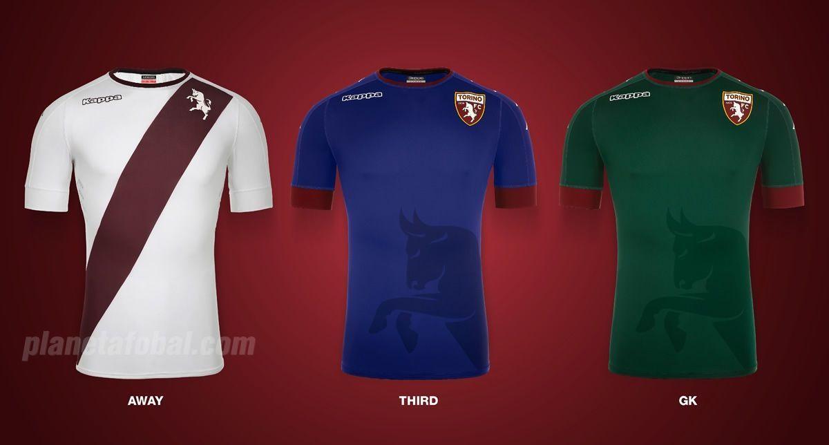Camisetas alternativas y de arquero del Torino FC para 2016/2017 | Imagen Kappa