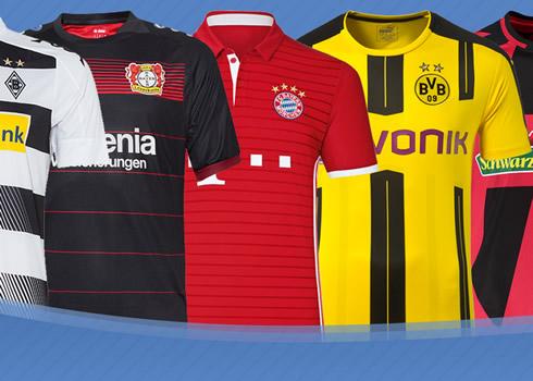 Las camisetas de la Bundesliga de Alemania