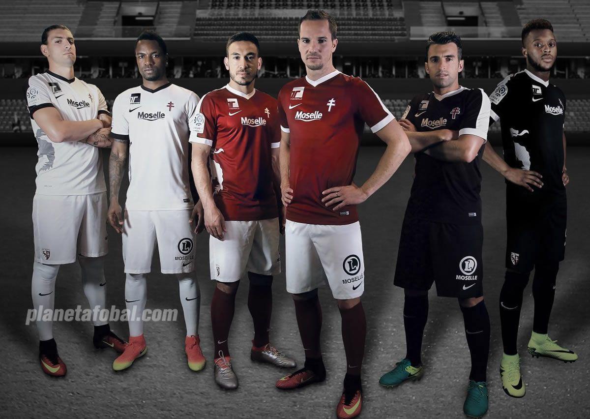 Camisetas Nike del FC Metz para 2016/2017 | Foto web oficial