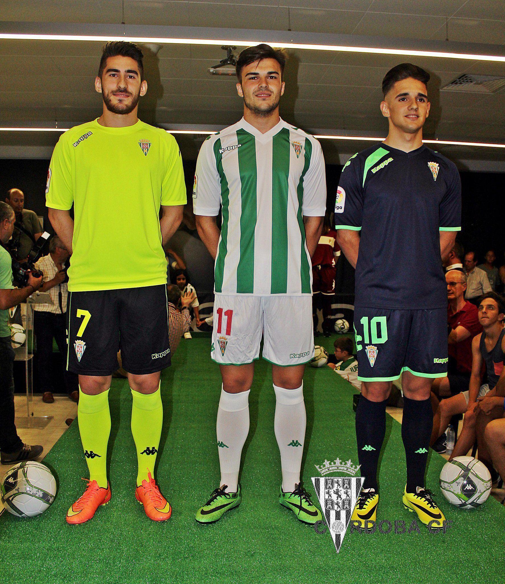 Nuevas casacas del Córdoba CF | Foto Twitter @cordobacfsad