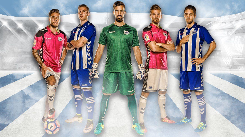 Nuevas casacas del Deportivo Alavés | Foto Web Oficial