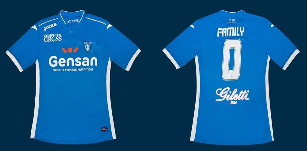Camiseta titular del Empoli | Foto Web Oficial