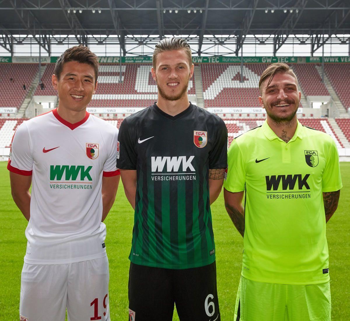 Nuevas camiseta del FC Augsburg | Imagen Twitter Oficial