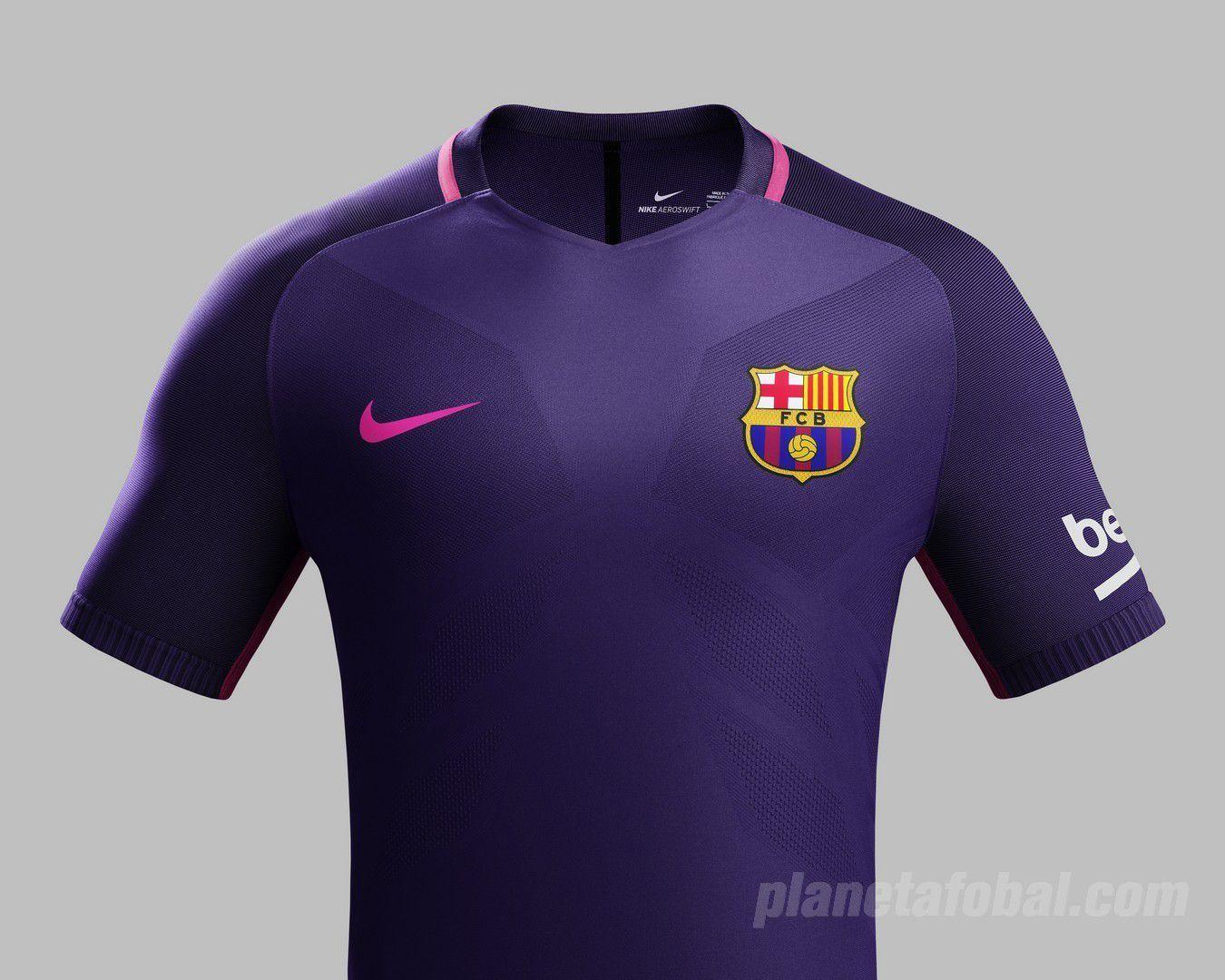Camiseta suplente Nike del Barcelona 2016 17 1af4f5be56b