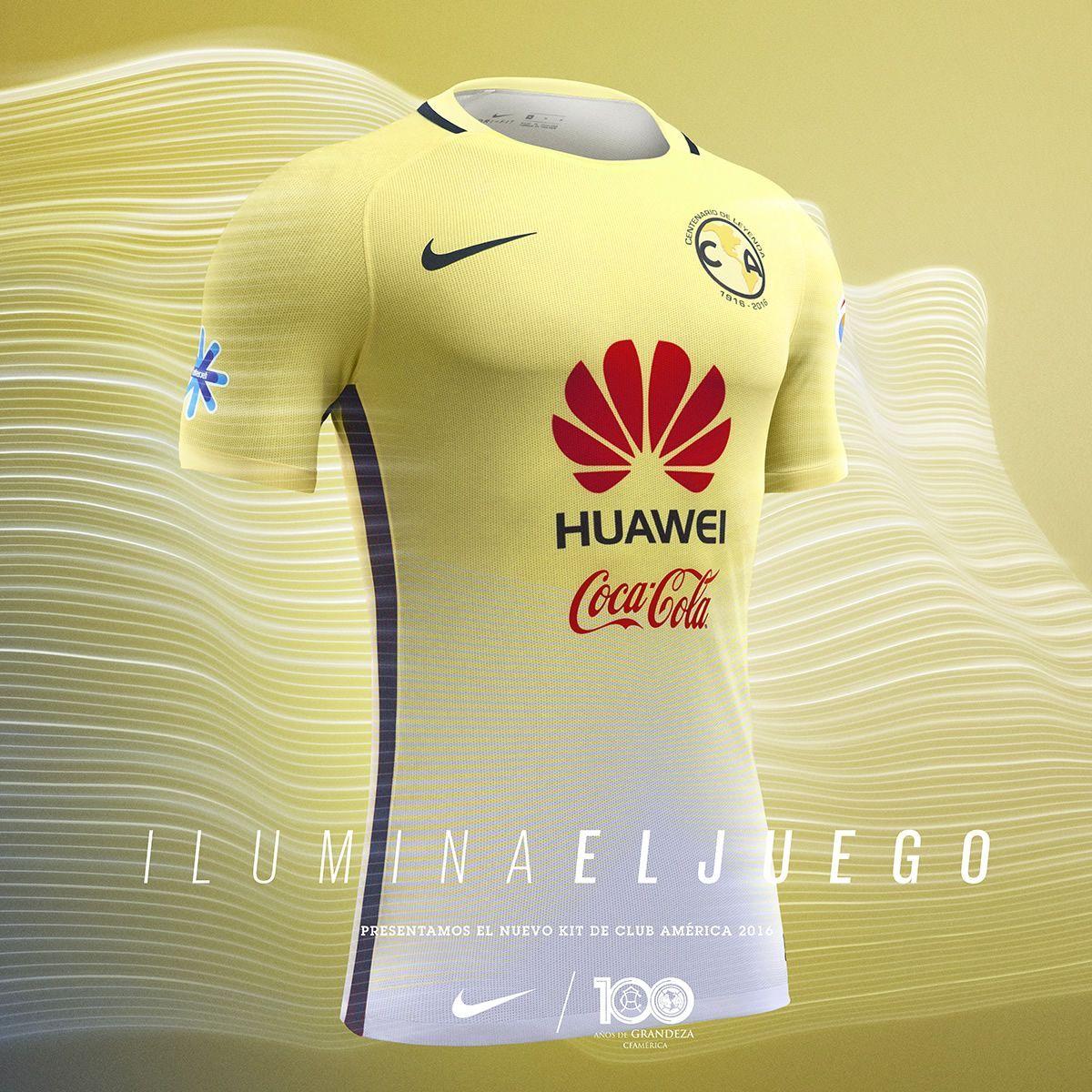 Jersey Centenario Nike del Club América de México | Foto web oficial