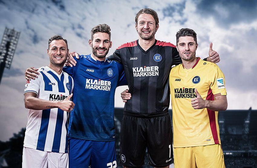 Nuevas casacas del Karlsruher SC | Foto Web Oficial