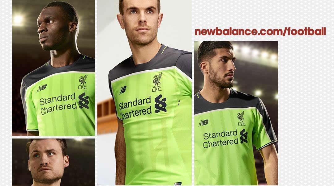 Tercera camiseta del Liverpool para 2016/2017 | Foto New Balance