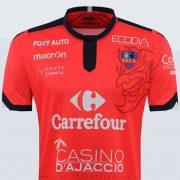 Camiseta titular del Gazélec FC Ajaccio   Imagen Web Oficial