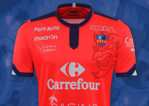 Camiseta titular del Gazélec FC Ajaccio | Imagen Web Oficial