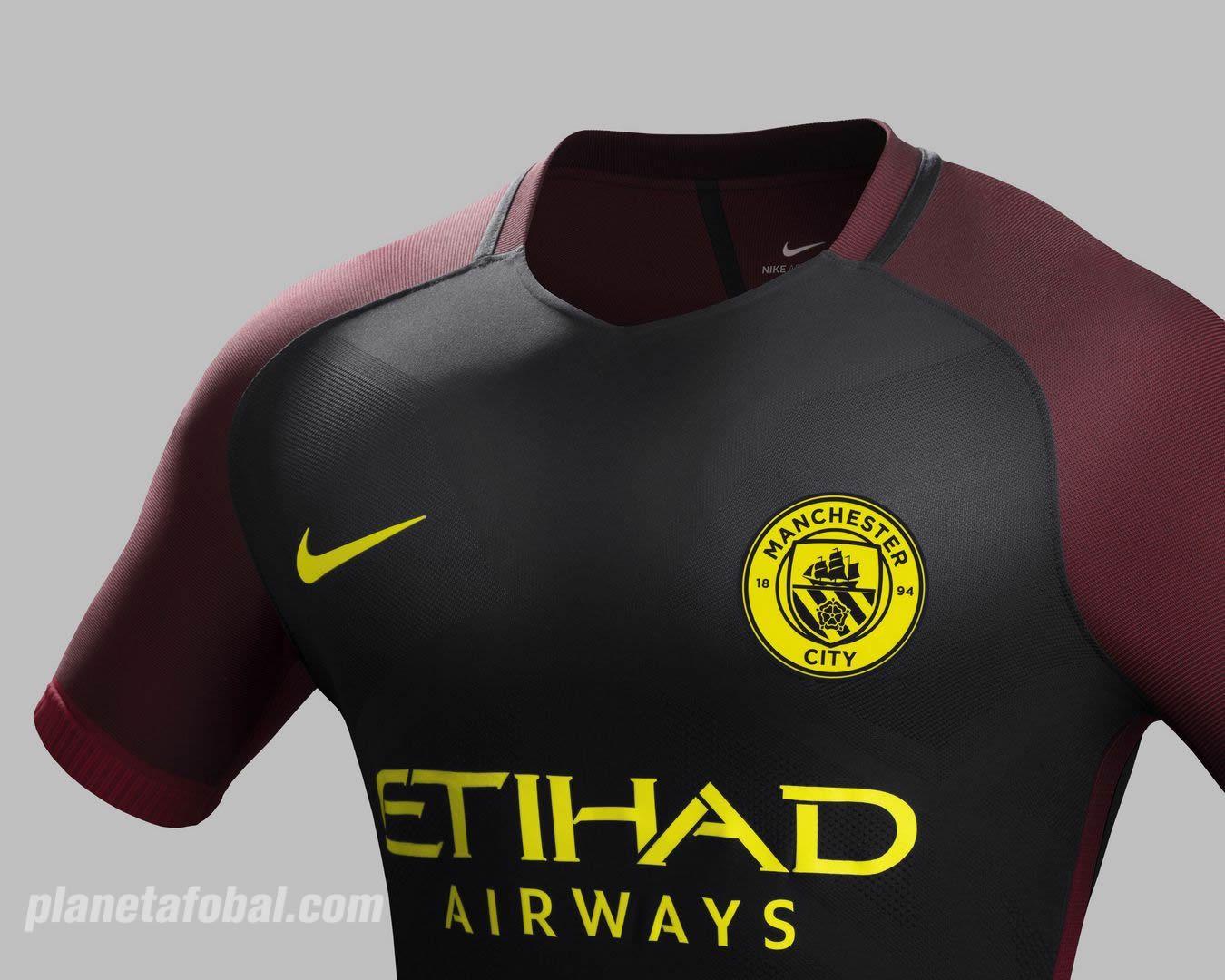 Camiseta suplente Nike del Manchester City 2016/2017   Planeta Fobal