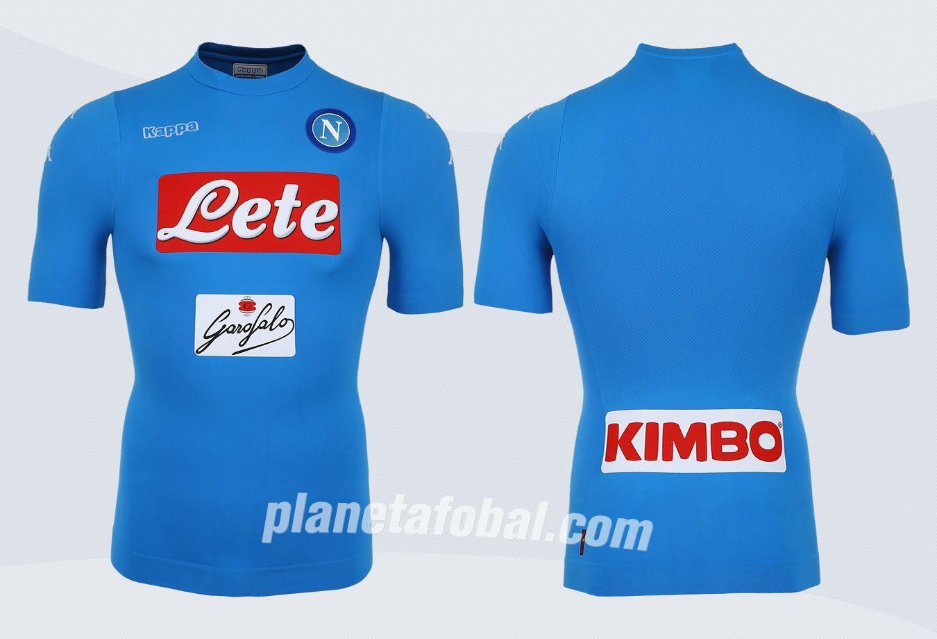 Camiseta titular del Napoli | Imágenes Kappa