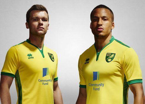 Camiseta titular del Norwich City   Foto Web Oficial