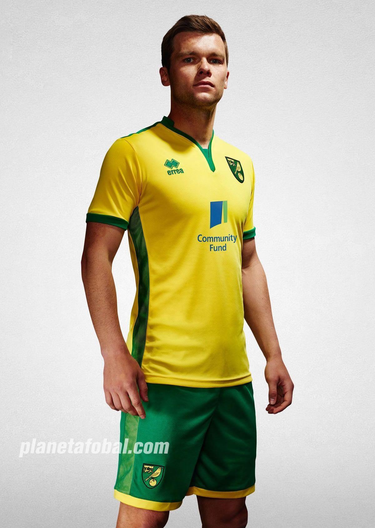 Camiseta titular del Norwich City | Foto Web Oficial