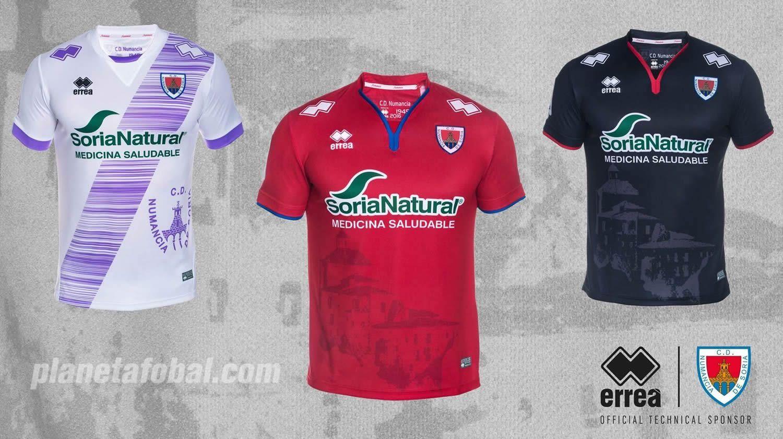 Nuevas camisetas del Numancia | Foto Web Oficial