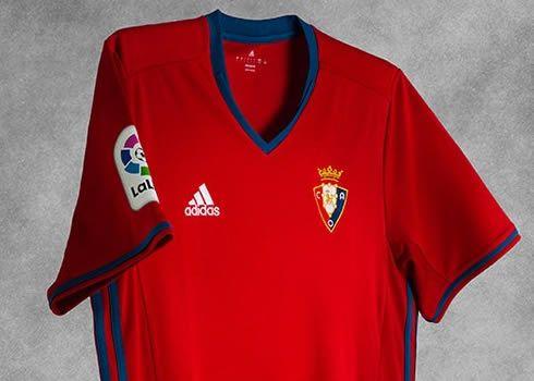 Camiseta titular del CA Osasuna para 2016/2017 | Foto Adidas