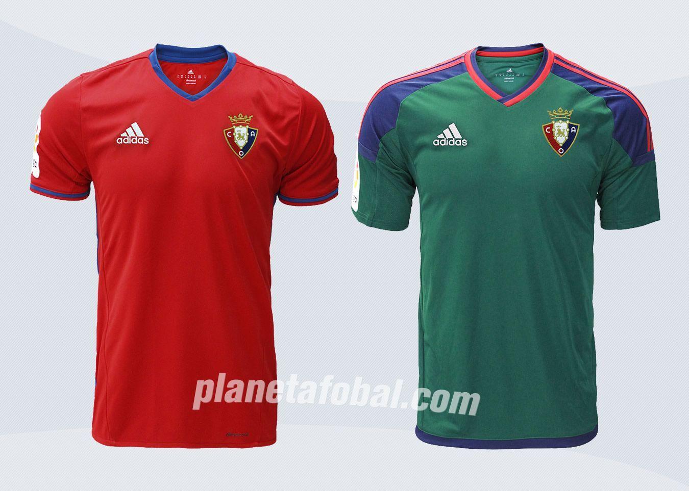 Camisetas Adidas del CA Osasuna para 2016/2017 | Imágenes Tienda Oficial