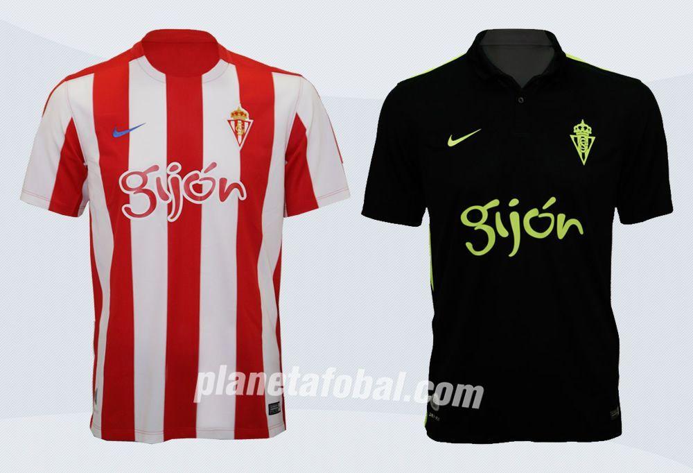 Nuevas casacas del Sporting Gijón | Imágenes Web Oficial