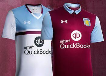 Nuevas casacas del Aston Villa   Foto Web Oficial