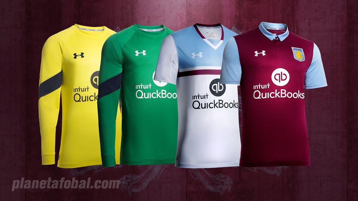 Nuevas casacas del Aston Villa | Foto Web Oficial