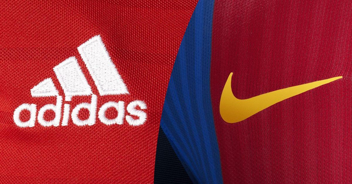 Adidas y Nike dominan en las grandes ligas de europa