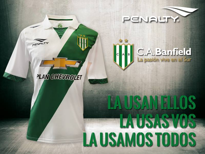 La nueva camiseta de Banfield | Foto Penalty