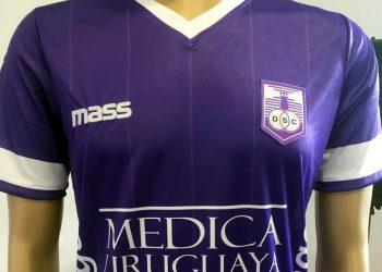 Camiseta titular de Defensor Sporting | Foto Twitter @MassUruguay