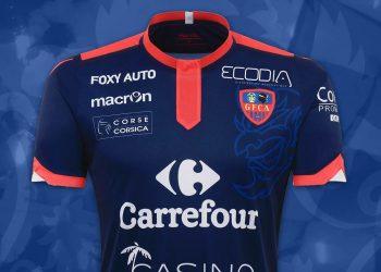 Camiseta suplente Macron del Gazélec Ajaccio para 2016/2017   Foto web oficial