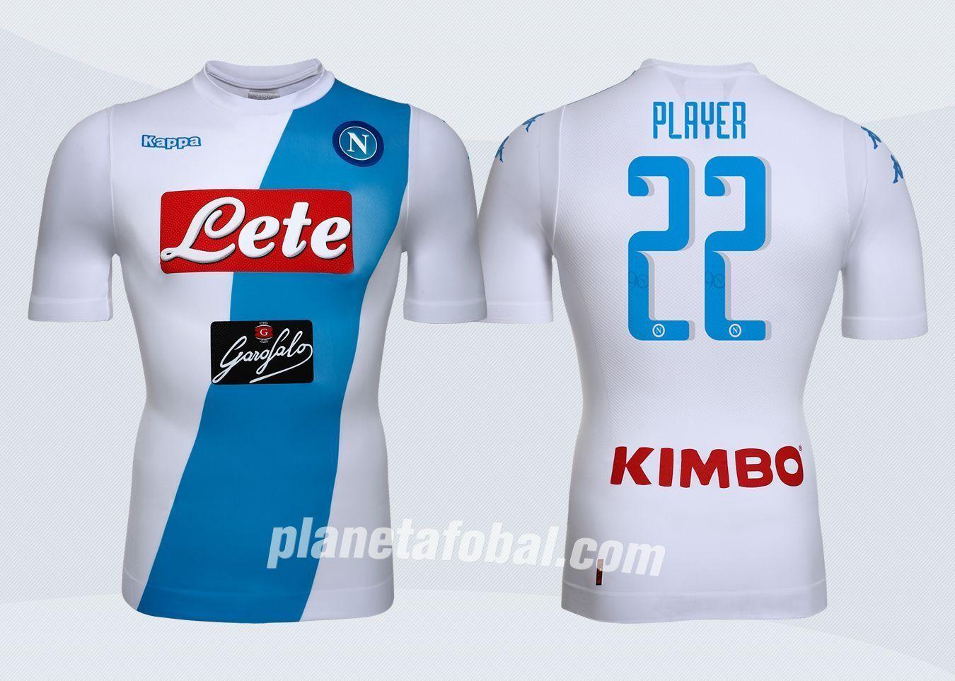 Camiseta suplente del Napoli | Imágenes Web Oficial