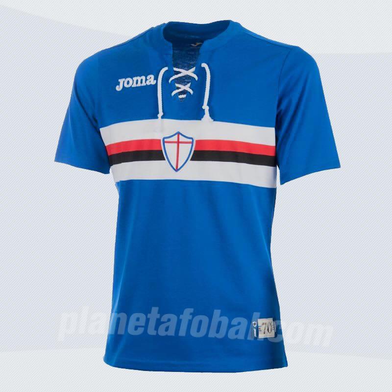 Camiseta retro de la Sampdoria | Foto Joma