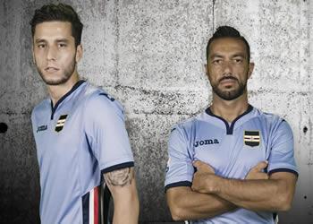 Nueva casaca de la Sampdoria | Foto Web Oficial