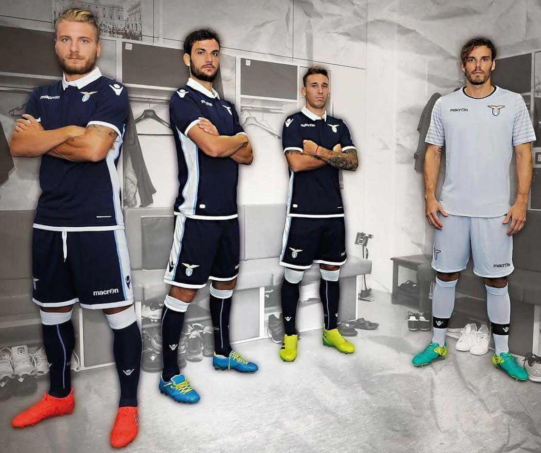 Nueva casaca suplente de la Lazio   Foto Web Oficial