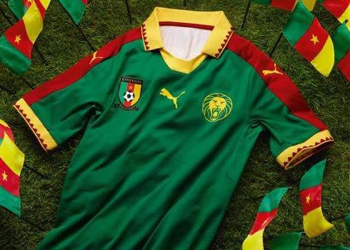 Nueva camiseta de Camerún   Foto Puma