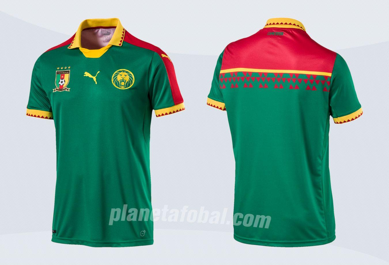 Nueva camiseta de Camerún | Imágenes Puma
