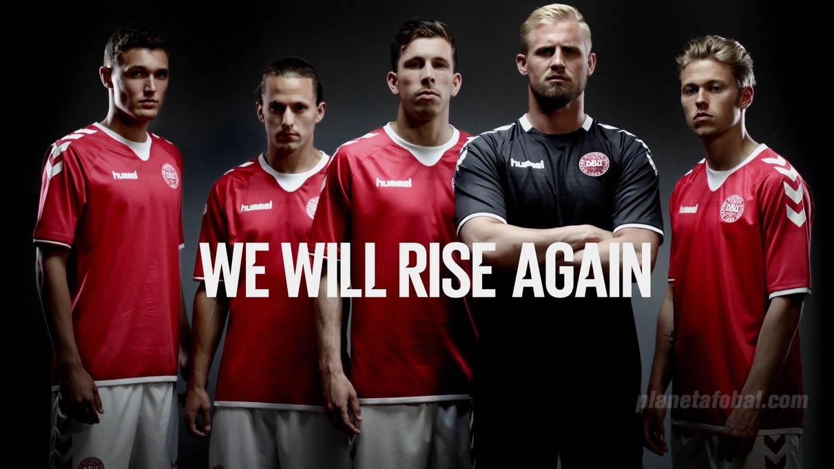 Camiseta titular de Dinamarca | Foto Hummel