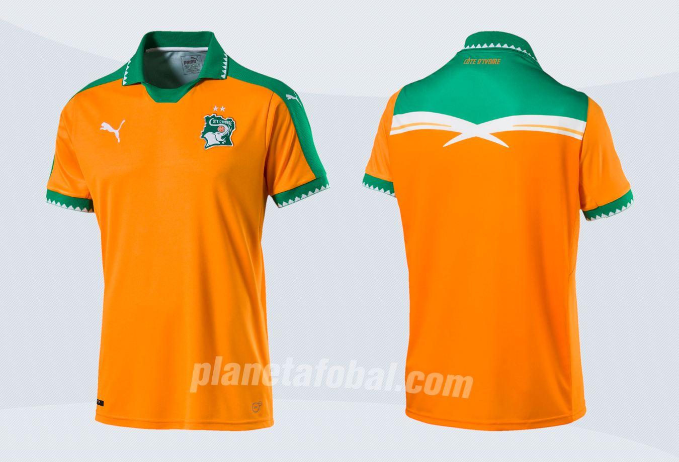 Nueva camiseta de Costa de Marfil | Imágenes Puma
