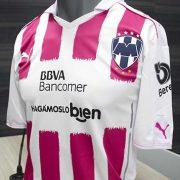 Nueva casaca rosa de los Rayados | Foto Twitter Oficial