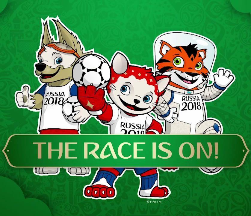 Las tres mascotas finalistas | Foto FIFA