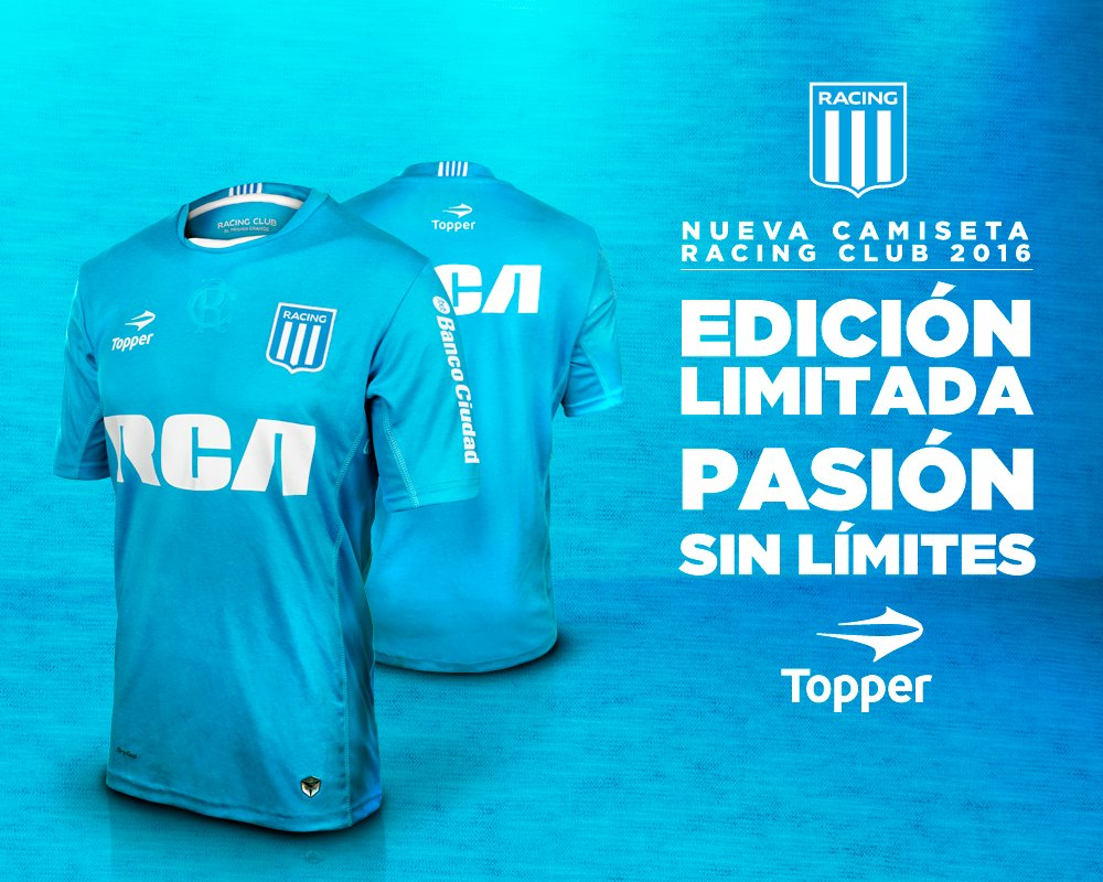 Nueva camiseta de Racing | Foto Topper