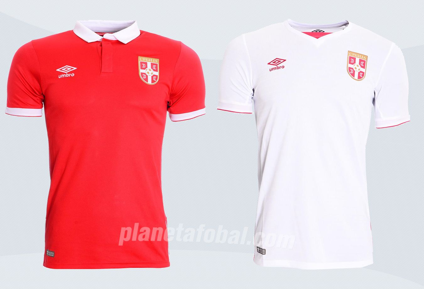 Nuevas camisetas de Serbia | Imágenes Umbro