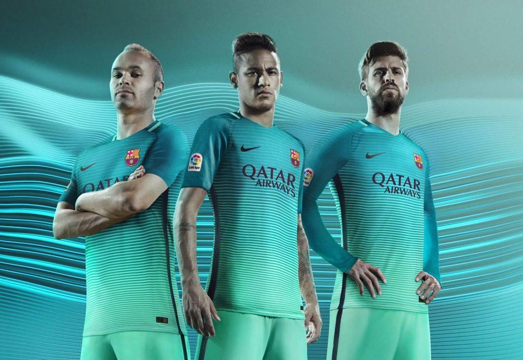 Tercera Camiseta Nike Del Barcelona 2016/2017
